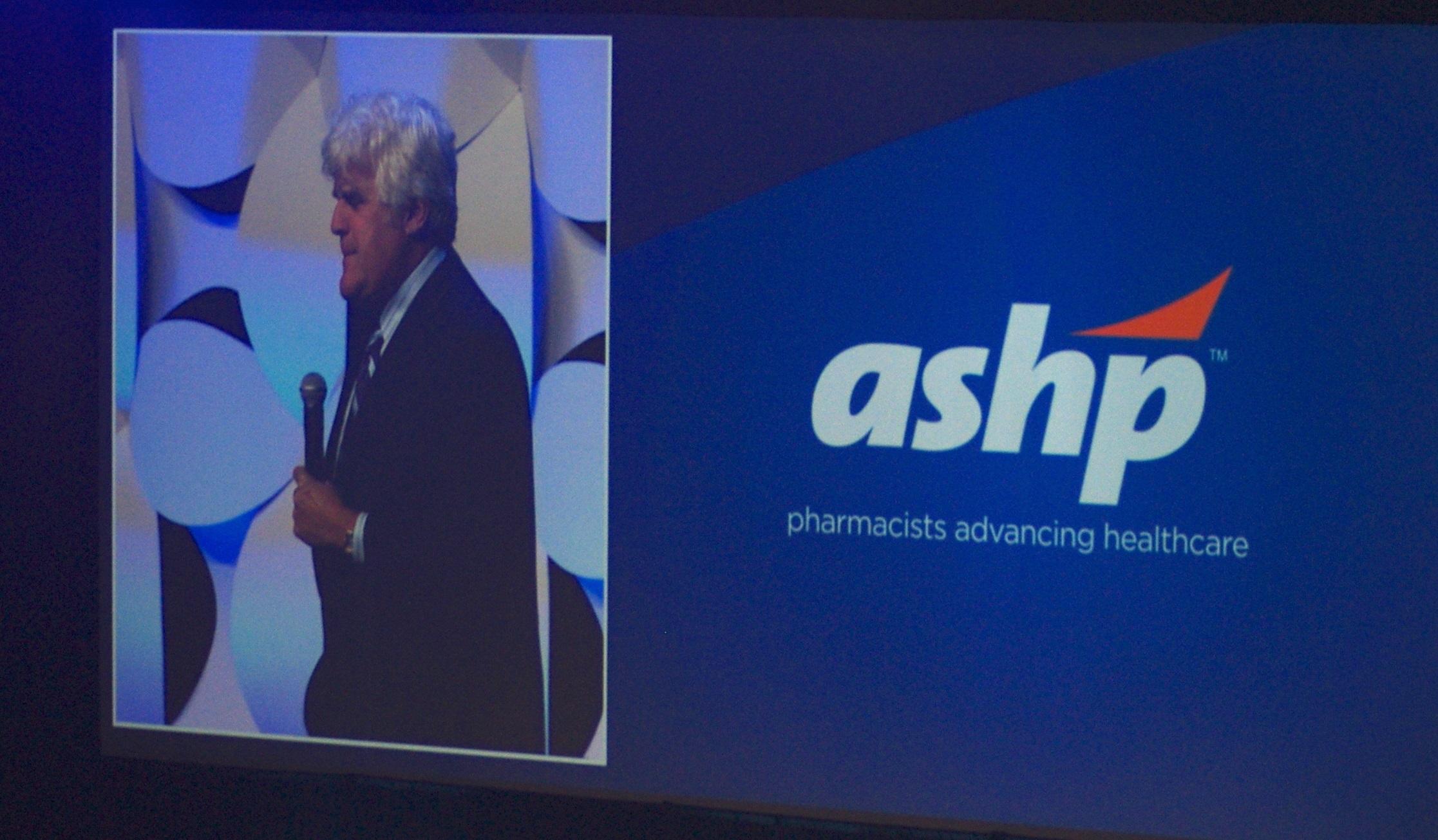 Jay Leno's Health Care Humor Opens ASHP Midyear