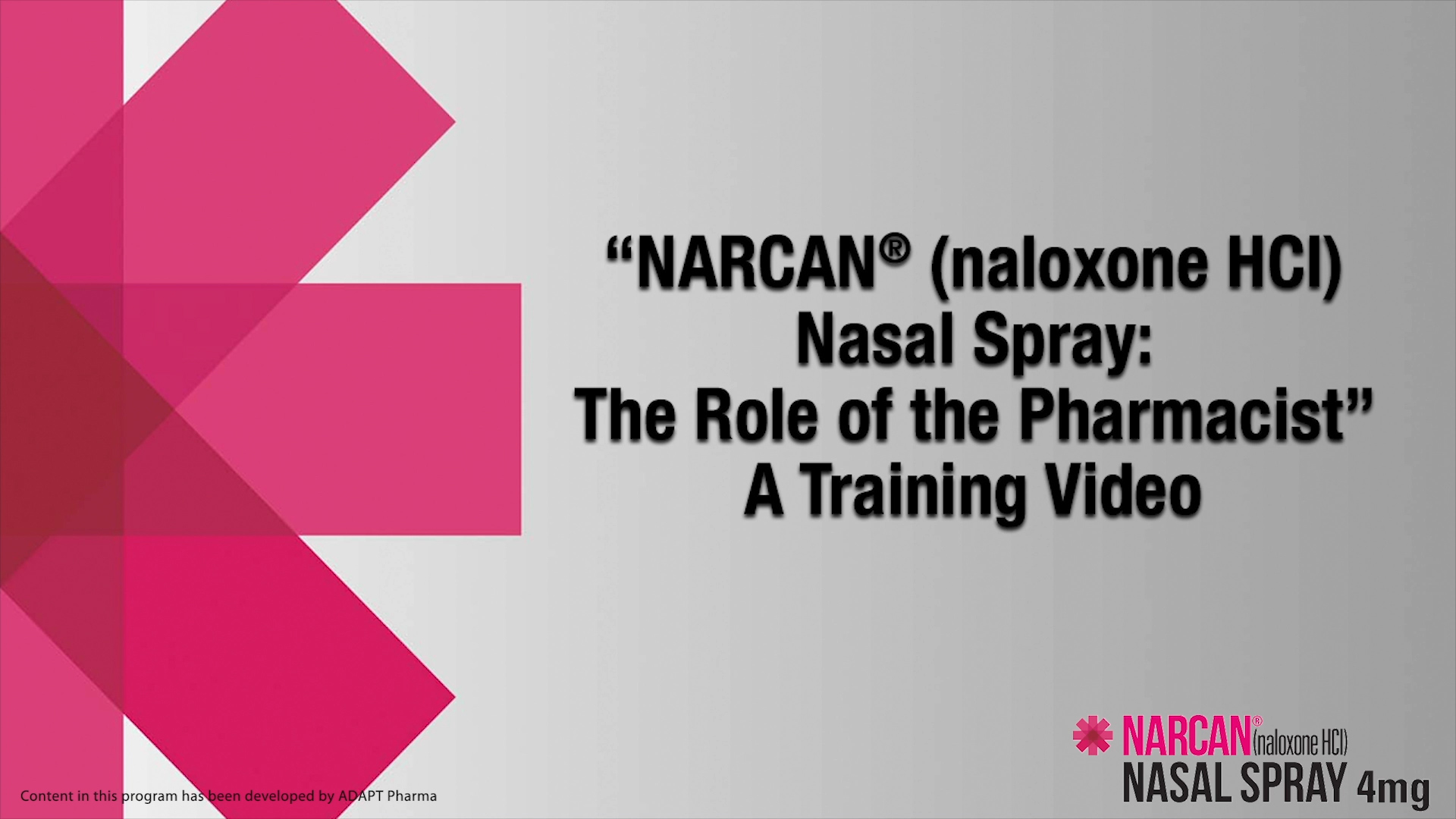 Narcan Training Video 1