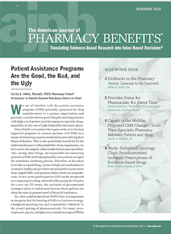 cover of The American Journal of Pharmacy Benefits